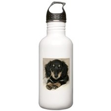 Long Haired Puppy Sports Water Bottle