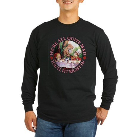 WE'RE ALL MAD - PINK Long Sleeve Dark T-Shirt