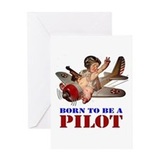BORN PILOT Greeting Card