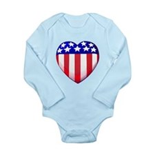 MY AMERICAN HEART Long Sleeve Infant Bodysuit
