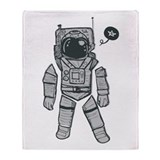 Funny Space Throw Blanket