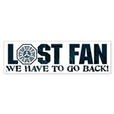 Lost Have to Go Back Bumper Sticker
