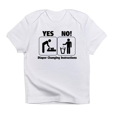 Diaper Changing Instructions Infant T-Shirt