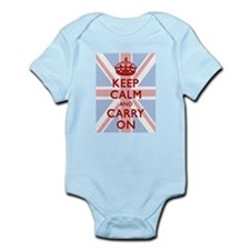 Keep Calm And Carry On (Light Union Jack) Body Sui