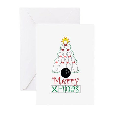 X-mas Bowler Greeting Cards (Pk of 20)