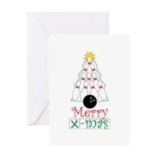 X-mas Bowler Greeting Card