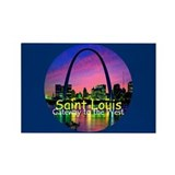 St. Louis Rectangle Magnet