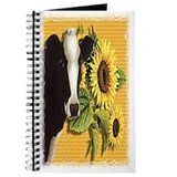 Cow with sunflowers Journal