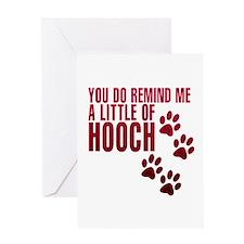 hooch Greeting Cards