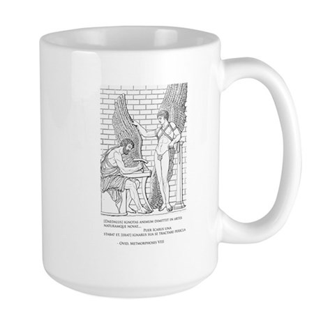 Daedalus and Icarus (Ovid) Large Mug