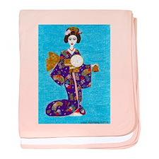 Geisha Doll Baby Blanket