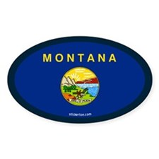 Montana State Flag Oval Decal