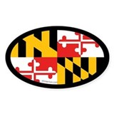 Maryland State Flag Oval Decal