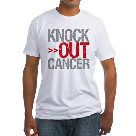Knock Out Cancer Fitted T-Shirt