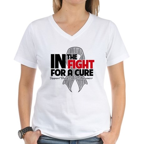 In The Fight Brain Cancer Women's V-Neck T-Shirt