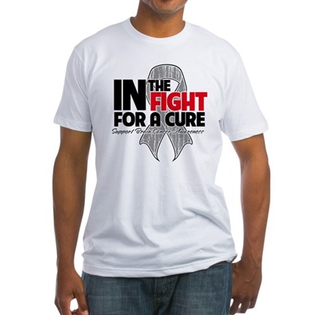 In The Fight Brain Cancer Fitted T-Shirt