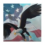 Patriot Eagle Tile Coaster
