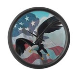 Patriot Eagle Large Wall Clock