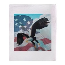 Patriot Eagle Throw Blanket
