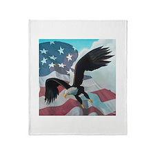 Patriot Eagle Throw Blanket