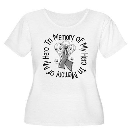 Brain Cancer In Memory Women's Plus Size Scoop Nec