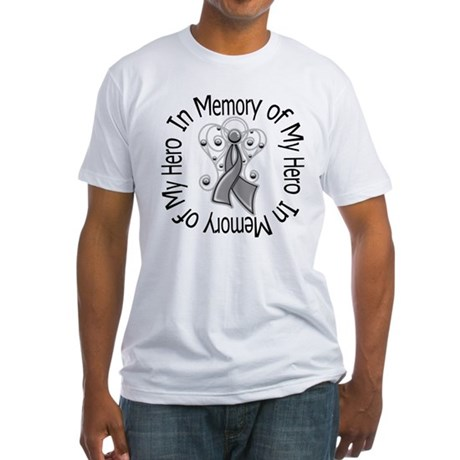 Brain Cancer In Memory Fitted T-Shirt