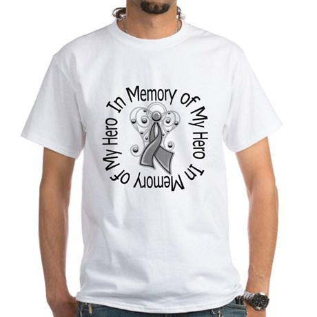 Brain Cancer In Memory White T-Shirt