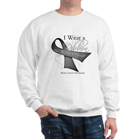 Brain Cancer Hero Ribbon Sweatshirt