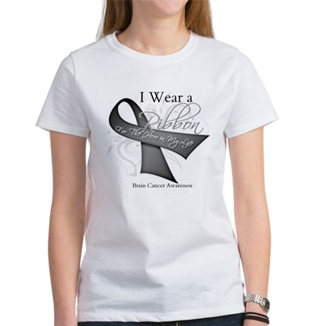 Brain Cancer Hero Ribbon Women's T-Shirt