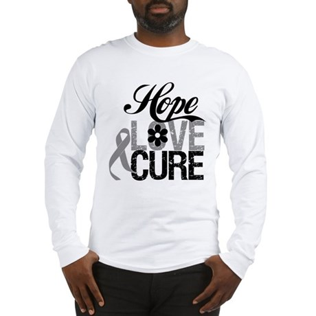 HopeLoveCure Brain Cancer Long Sleeve T-Shirt