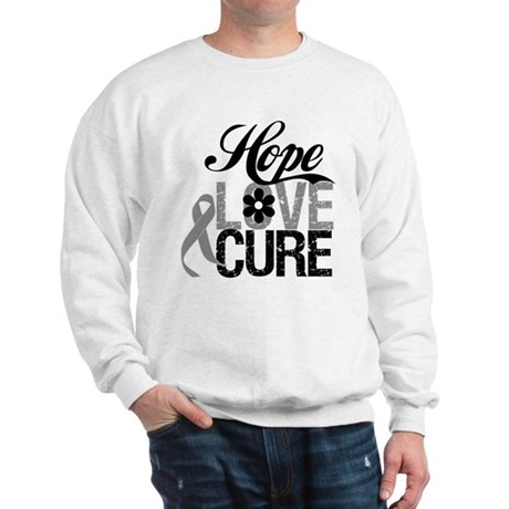 HopeLoveCure Brain Cancer Sweatshirt