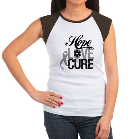 HopeLoveCure Brain Cancer Women's Cap Sleeve T-Shi
