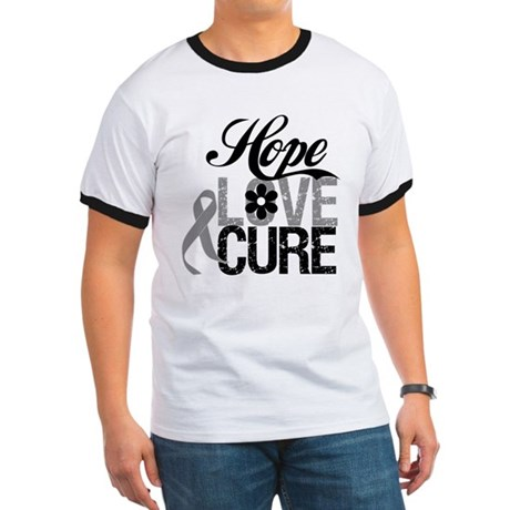 HopeLoveCure Brain Cancer Ringer T