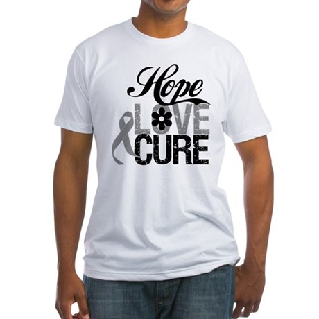 HopeLoveCure Brain Cancer Fitted T-Shirt