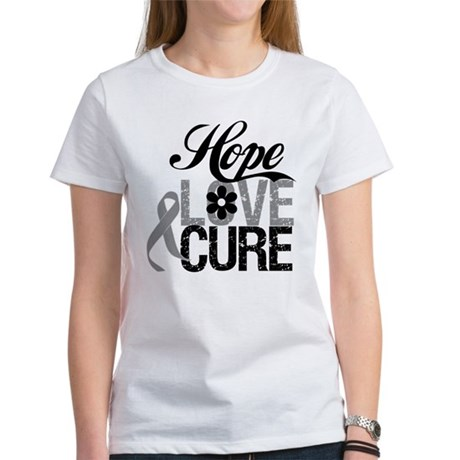 HopeLoveCure Brain Cancer Women's T-Shirt