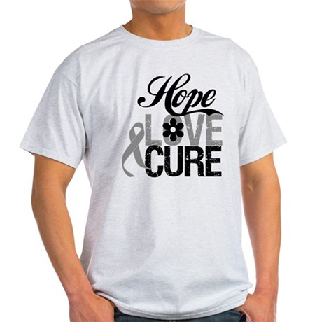 HopeLoveCure Brain Cancer Light T-Shirt