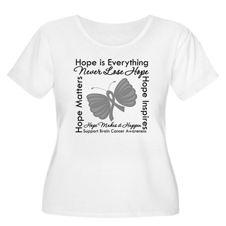 HopeisEverything BrainCancer Women's Plus Size Sco