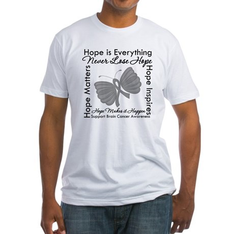 HopeisEverything BrainCancer Fitted T-Shirt