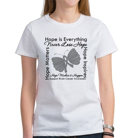 HopeisEverything BrainCancer Women's T-Shirt