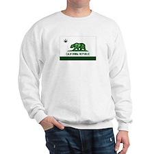 California Weed Flag Sweatshirt