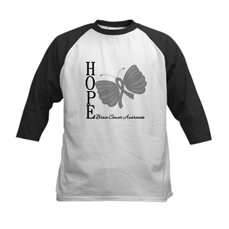 Hope Brain Cancer Kids Baseball Jersey