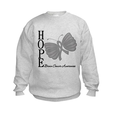 Hope Brain Cancer Kids Sweatshirt