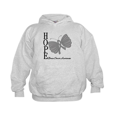 Hope Brain Cancer Kids Hoodie