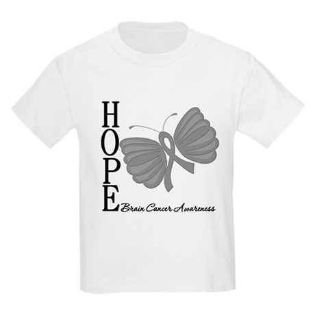 Hope Brain Cancer Kids Light T-Shirt