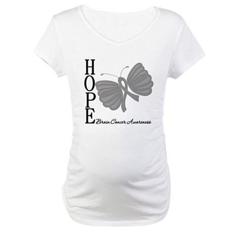 Hope Brain Cancer Maternity T-Shirt