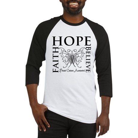 Brain Cancer Faith Believe Baseball Jersey