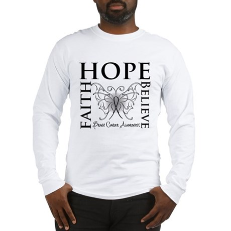 Brain Cancer Faith Believe Long Sleeve T-Shirt