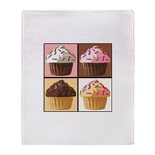 Pop Art Cupcake Throw Blanket