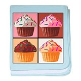 Pop Art Cupcake baby blanket