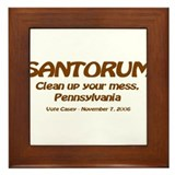 Cute Santorum Framed Tile